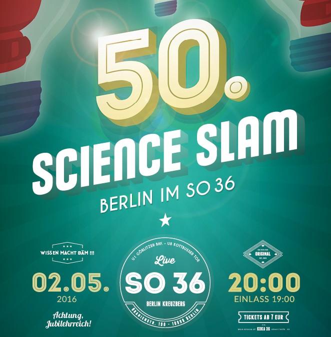 50. Jubiläum beim Science Slam Berlin im SO36